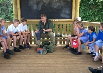 Ray Mears visits St. Mary's!
