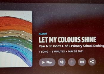 St Johns Year 6 school children write and record charity song to help Mental Health Charities