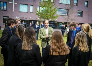 HRH The Earl of Wessex visits Christs College
